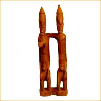 afro craft couple dogon bois d 39 afrique statues statuettes. Black Bedroom Furniture Sets. Home Design Ideas